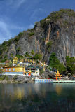 Härlig sikt av det Bayin Nyi Begyinni komplexet i Hpa-An, Myanm Royaltyfria Foton