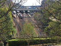 Härlig sikt av Edinburgjärnvägen arkivfoton