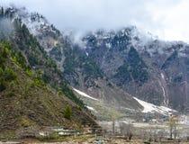 Härlig sikt av en dal i Naran Kaghan, Pakistan Fotografering för Bildbyråer