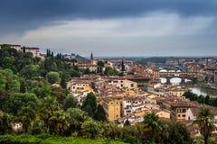 Härlig sikt av Florence, Italien Royaltyfri Foto