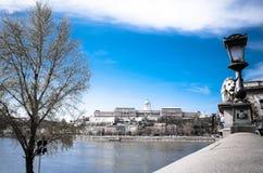 Härlig sikt av historiska Royal Palace i Budapest Royaltyfria Bilder
