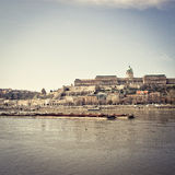 Härlig sikt av historiska Royal Palace i Budapest Royaltyfri Bild