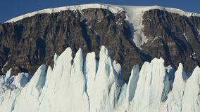 Härlig sikt av isberg lager videofilmer
