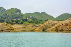 Härlig sikt av Khanpur sjön, Pakistan Royaltyfri Fotografi