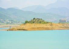 Härlig sikt av Khanpur sjön, Pakistan Royaltyfria Bilder