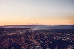 Härlig sikt av kullarna av Cappadocia En av sikten av Turkiet Turism lopp, härliga landskap, natur Fotografering för Bildbyråer