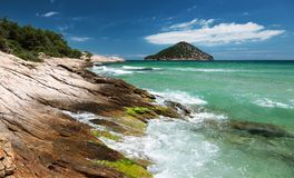 Härlig sikt av kustlinjen Royaltyfri Foto