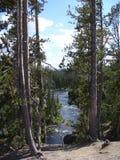 Härlig sikt av någonstans in den Yosemite nationalparken Arkivfoton