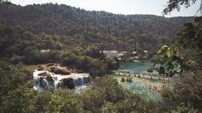 Härlig sikt av Plitvice sjöar, Kroatien Royaltyfria Foton