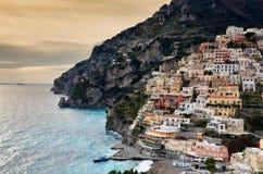 Härlig sikt av Positano, Italien Royaltyfri Foto
