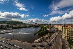 Härlig sikt av Prague, Tjeckien Arkivfoto