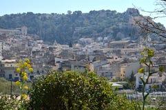 Härlig sikt av Scicli, Ragusa, Sicilien, Italien, Europa, världsarv arkivfoton