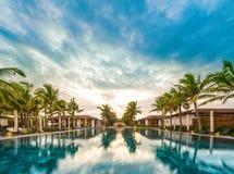 Härlig sikt av semesterorten i Vietnam, Asien. Royaltyfria Bilder