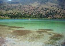 Härlig sikt av sjön arkivfoto