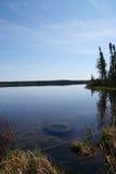 Härlig sikt av sjön arkivbild