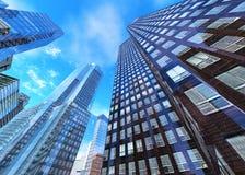 Härlig sikt av skyskraporna Fotografering för Bildbyråer