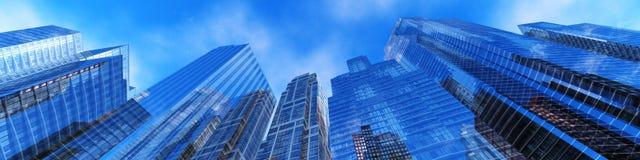 Härlig sikt av skyskraporna Royaltyfri Fotografi