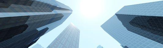 Härlig sikt av skyskraporna Royaltyfria Foton