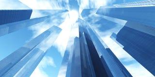 Härlig sikt av skyskraporna Royaltyfria Bilder