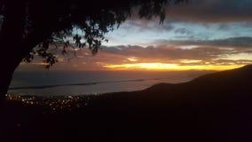 Härlig sikt av solnedgången arkivbild