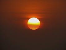 Härlig sikt av soluppgång Arkivbild