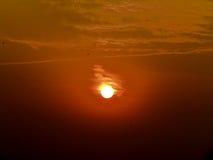 Härlig sikt av soluppgång Fotografering för Bildbyråer