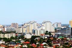 Härlig sikt av staden av Krasnodar royaltyfri fotografi