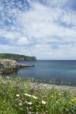 Härlig sikt av Sts John halvö i Newfoundland och Labra Arkivfoton