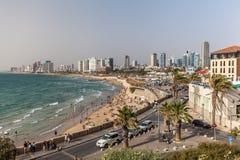 Härlig sikt av Tel Aviv royaltyfria foton