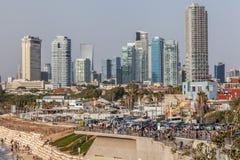 Härlig sikt av Tel Aviv arkivbild