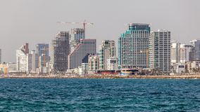 Härlig sikt av Tel Aviv arkivfoton