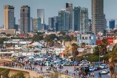 Härlig sikt av Tel Aviv fotografering för bildbyråer