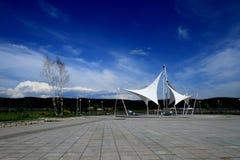 Härlig sikt av Tongxin den offentliga trädgården Royaltyfria Foton