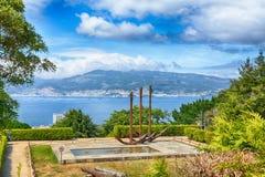 Härlig sikt av Vigo, Spanien Royaltyfria Foton