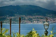 Härlig sikt av Vigo, Spanien Arkivbild