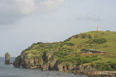 Härlig sikt en av delen av den Batanes ön Batanes är Fotografering för Bildbyråer