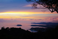 Härlig sikt för Andaman hav royaltyfri foto