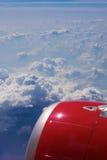 härlig sikt för flygplan Arkivfoton