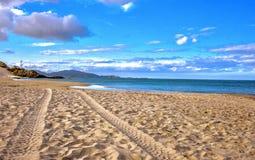 härlig sikt för strand Arkivbilder