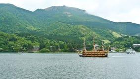 Härlig sikt från Ashi sjön Fotografering för Bildbyråer