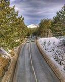 Härlig sikt från bron Serbiskt foto Berg Zlatibor arkivfoto