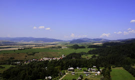 Härlig sikt från slotttorn av dalen tredje Royaltyfri Fotografi