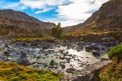 Härlig sikt i den Colca kanjonen, Peru i Sydamerika Royaltyfri Bild