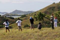Härlig sikt i den Komodo ön, Indonesien Fotografering för Bildbyråer