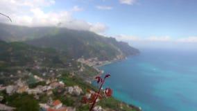 Härlig sikt i Ravello sydliga Italien lager videofilmer