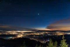 Härlig sikt i Slovenien Arkivfoto