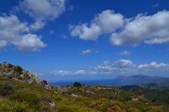Härlig sikt, Kreta, Grekland Royaltyfri Fotografi