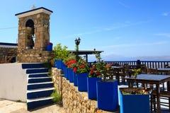 Härlig sikt på havet och några Grekland öar Royaltyfria Foton