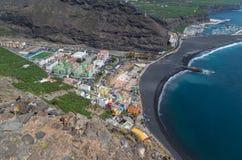 Härlig sikt på Puerto de Tazacorte, kanariefågelöar, Spanien Arkivfoto
