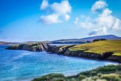 Härlig sikt på Shetlands Royaltyfri Fotografi